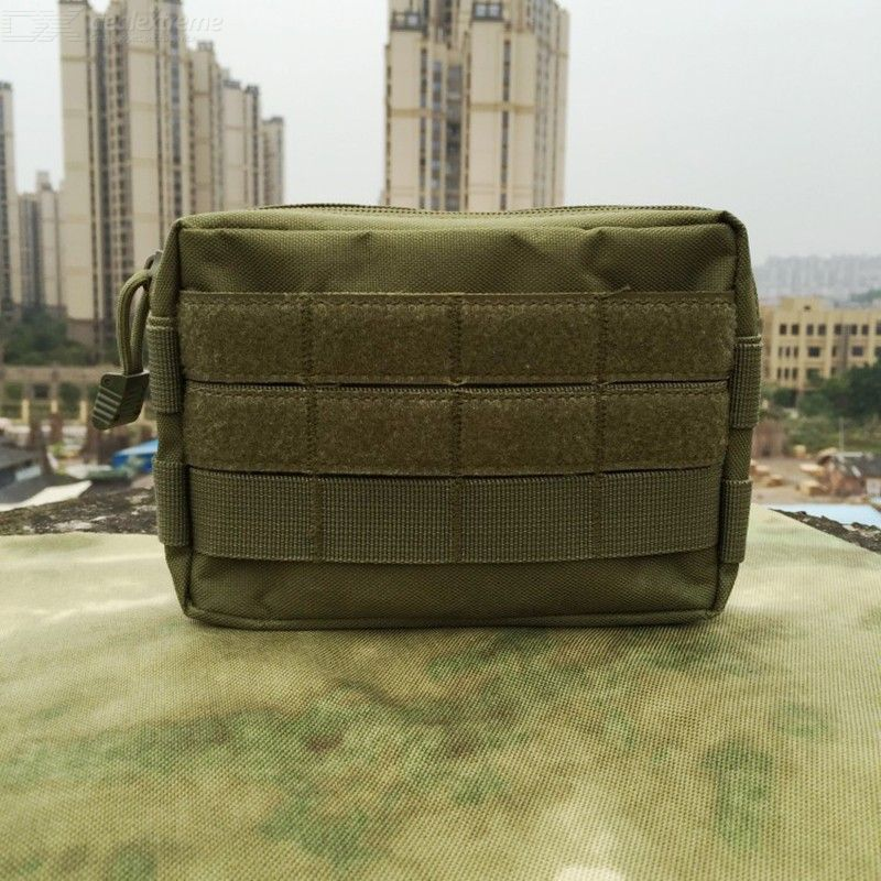 Outdoor Molle Vice Package Camouflage Tactical Pockets EDC Tool Commuter Bag Handbag Army Fan Accessories