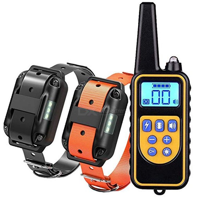 Dog Training Collar Waterproof Rechargeable Dog Train Chain With 3 Modes 100 Static Levels 800M Range W/1PC Remote