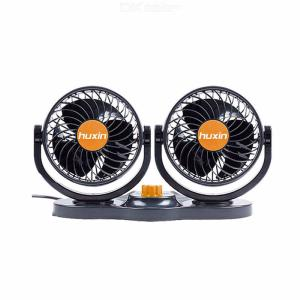 Huxin New Car Fan 5 Inch Double Head Two Gear Speed Regulation Big Wind 24V Big Truck Train HX-T312