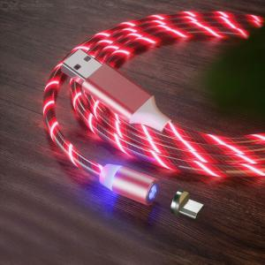 1m Colorful Streamer Magnetic Micro USB Charging Cable for Android Mobile Phone