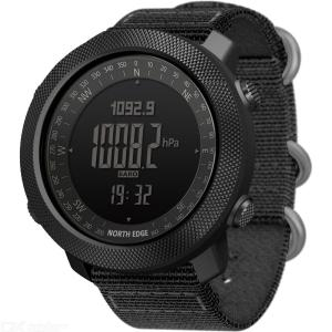 North Edge APACHE Mens Outdoor Digital Watch 50M Water Resistant Altimeter Compass Barometer Temperature Gauges
