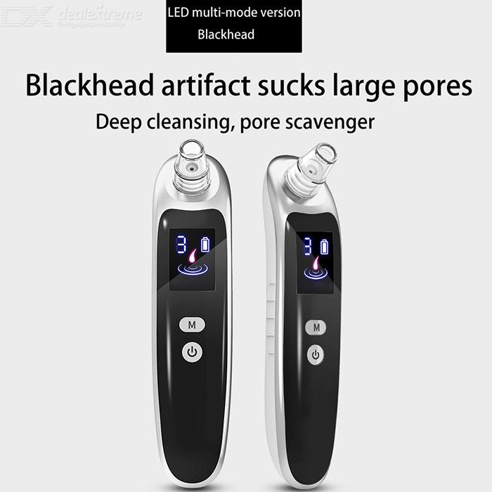 Blackhead Remover Vacuum Electric Facial Pore Cleanser With 3 Modes 6 Heads фото