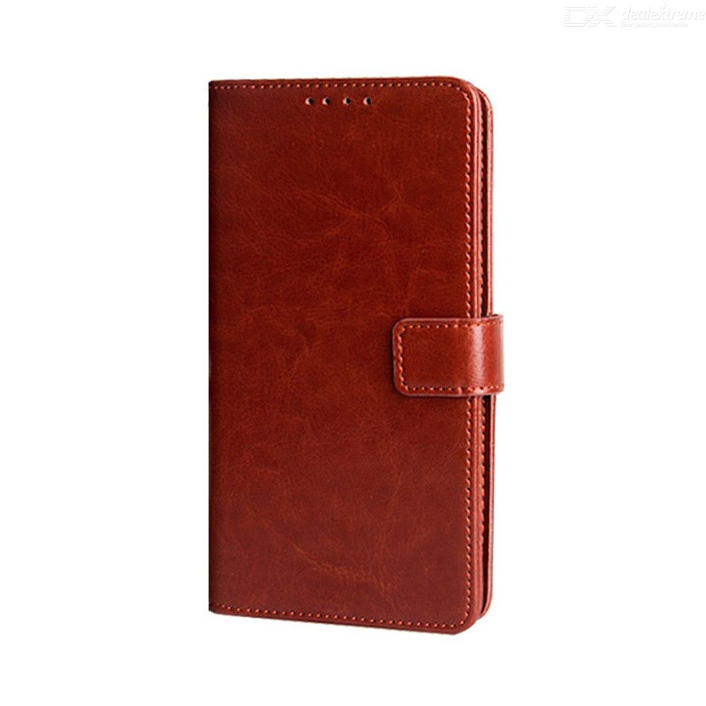 Naxtop TPU + PU Leather Wallet Flip Stand Phone Case With Card Slot For Doogee Y8C / Doogee N20