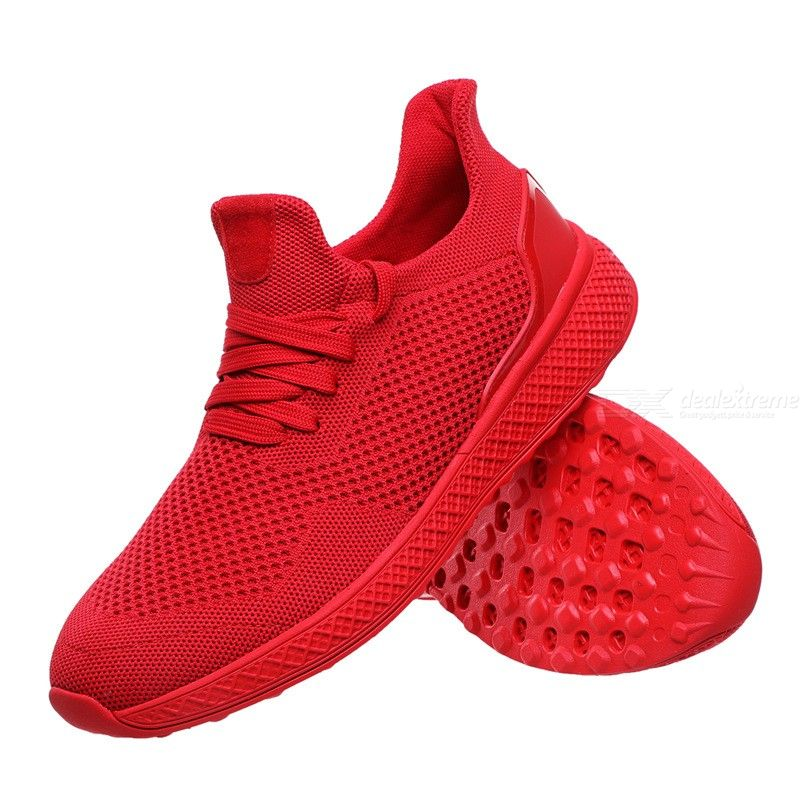 Dealextreme / Mens Casual Sneakers Lace Up Breathable Mesh Shoes Fashion Flat Sport Running Shoes