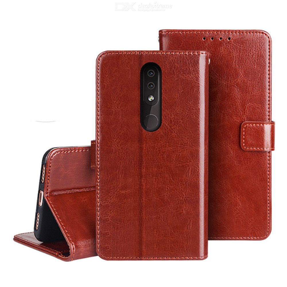Naxtop TPU + PU Leather Wallet Flip Stand Phone Case With Card Slot For Nokia 2.2 / 3.2 / 4.2 / 6.2 / 7.2 / 3.1 C