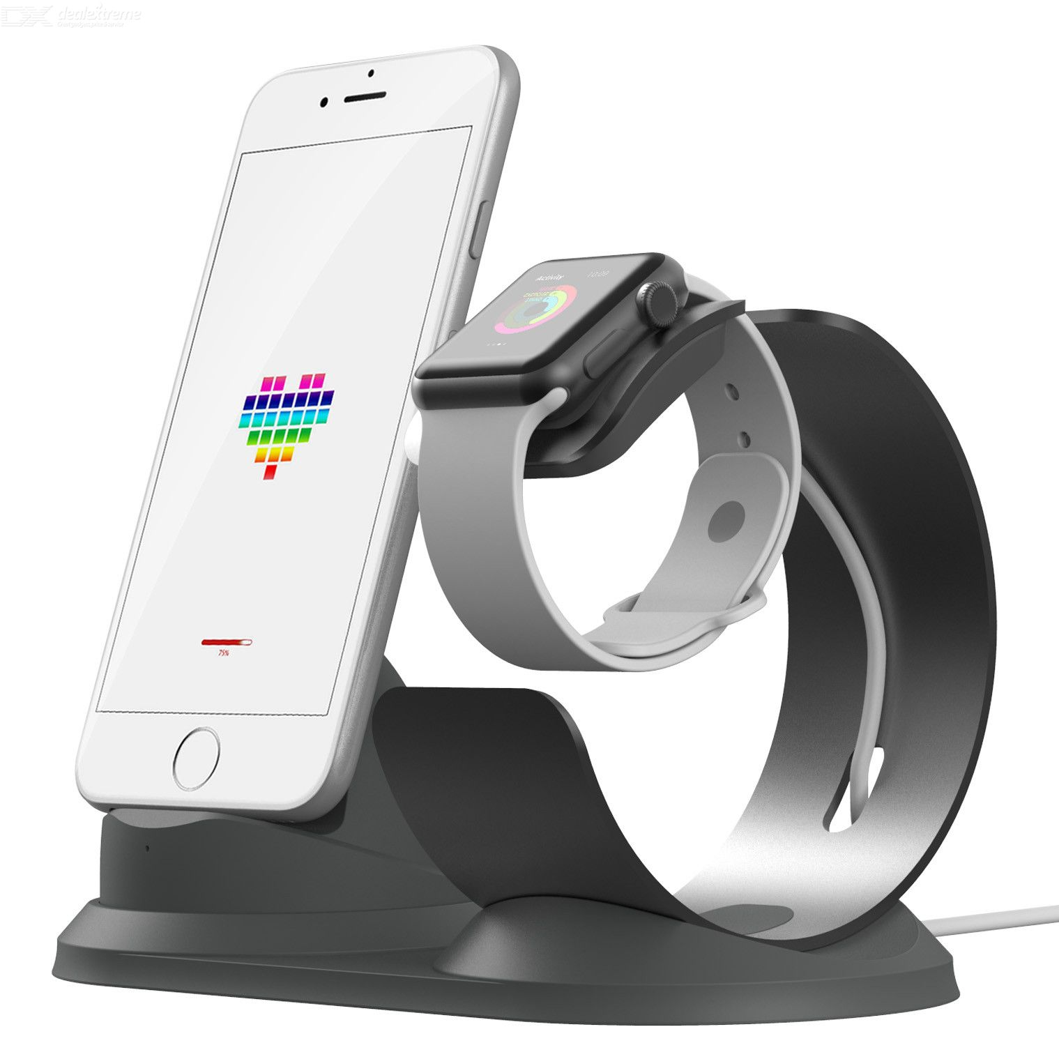 Multi Charge Phone Holder Stand for Apple Watch, iPhone, Samsung, LG and More фото