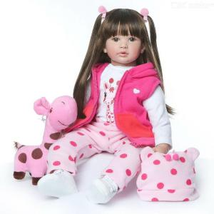 Reborn Baby Doll 24 Inch 60cm Lifelike Baby Reborn Toddler Girl With Long Hair