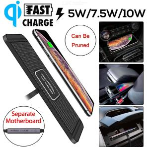 C1 Car Qi Wireless Charger Pad Fast Charging Dock Station Non-slip Mat Car Dashboard Holder Stand for iPhone Samsung