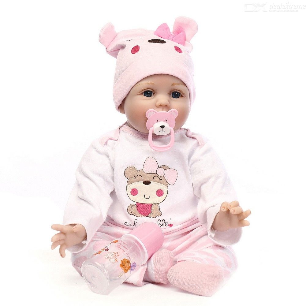 Reborn Baby Doll Eco-friendly Soft Vinly Silicone Simulation Toy - Pink