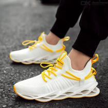 Mens Casual Sneakers Adult Fashionable All-match Breathable Low-Top Flyknit Trainers