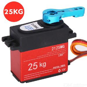 25KG Digital Servo Full Metal Gear High Torque Waterproof with 25T Servo Horn for RC Car Crawler Robot Control Angle 180D