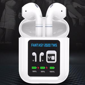 Mini TWS Wireless Bluetooth Headset Stereo Sports Earphone with LCD Screen Charging Box for Phone