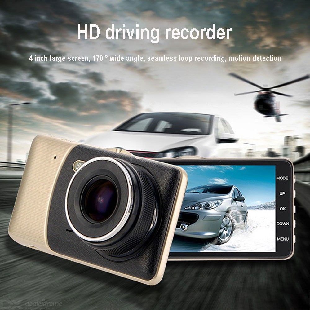 Dash Cam 1080P Front Rear Car DVR Dashboard Camera With 4 Inch Screen 170-Degree Wide Angle Night Vision Motion Sensor