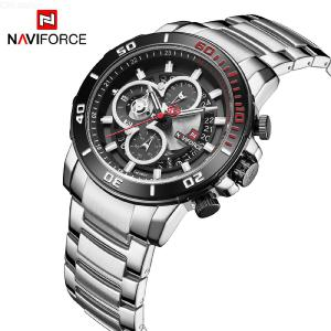 NAVIFORCE 9174 Premium 6-Pin Men Quartz Watch With 3 Sub-Dial, Stainless Steel Band Business Wristwatch With Calender