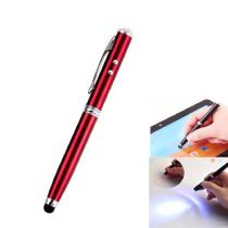 3 in 1 Touch Screen Stylus Pen Red Laser LED Lighting Phone Tablet Universal Stylus
