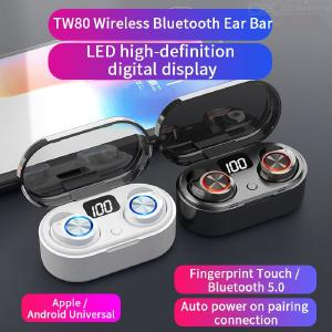 Bluetooth 5.0 Wireless Earbuds Noise Cancelling Stereo Touch Control Sport Earphones With Digital Display Mic Charging Case