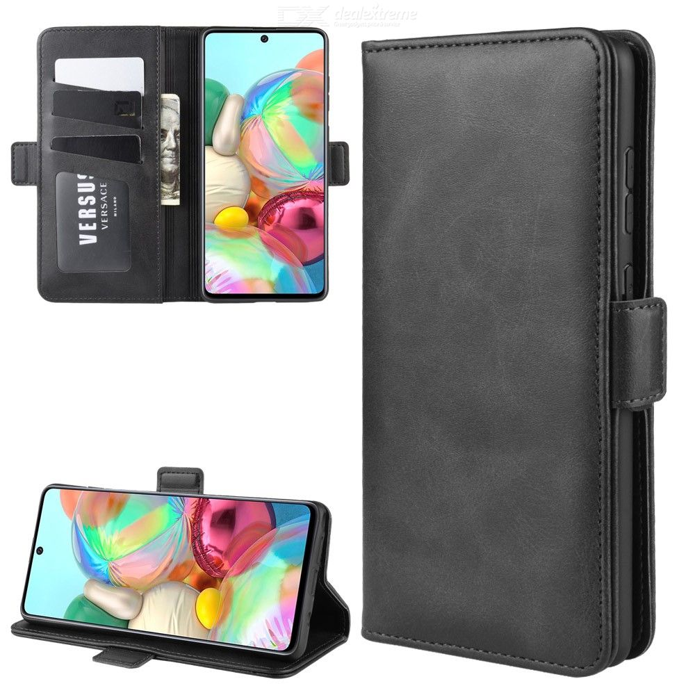 Samsung | Leather | Wallet | Galaxy | Buckle | Double | Stand | Phone | Note | Case