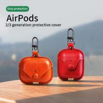 Retro PU Leather Earphone Protective Case Bluetooth Headset Cover For IPhone Airpods Pro / 1 / 2 / 3 Apple Headset Cover