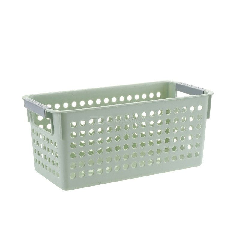 Home Plastic Storage Organizer Basket Office School Family Hollow Out  Design Baskets Kitchen Bathroom Sundries Container