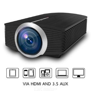 YG500 Mini Projector Home LED HD 1080P Projector Cinema Machine -Black