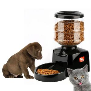 5.5L Automatic Pet Feeder Food Dispenser For Cats Dogs With Portion Control Timer Voice Recorder Up To 3 Meals Per Day