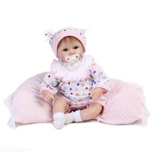 Silicone Soft Reborn Babies Doll, Lifelike Cute Newborn Baby Doll Play Toy For Kids