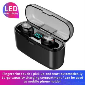 F9-3 Bluetooth Wireless Earbuds Bluetooth 5.0 EDR In-Ear Earphones W/1PC 1200mAh Charging Case