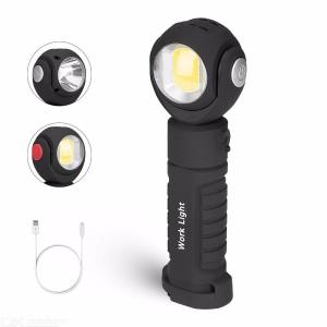360 Degree Adjustable LED Flashlight with Magnet Portable Emergency Lamp Outdoor Work Light
