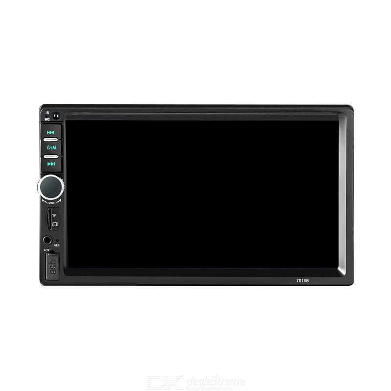 7 Inch Touch Screen Bluetooth Car Radio MP5 Player Car Audio Aux Rear View Camera Mirror Link - Black