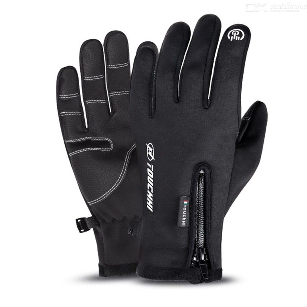 Mens Womens Winter Gloves Touch Screen Warm Waterproof Cold Weather Gloves For Cycling Running Skiing