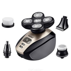 KM-1000 5-in-1 Electric Shaver Five Floating Heads Electric Razor For Hair Nose Beard - EU Plug