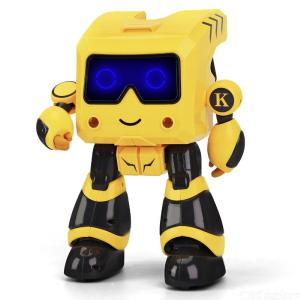JJRC R17 Kids Smart RC Robot Toy Programmable Touch Control Sing Dance Model Robot KAQI-TOTO - Yellow