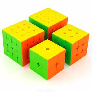 2x2 3x3 4x4 5x5 Magic Speed Cube, 4PCS Rubiks Cubes Brithday Gift Educational Toy Puzzle
