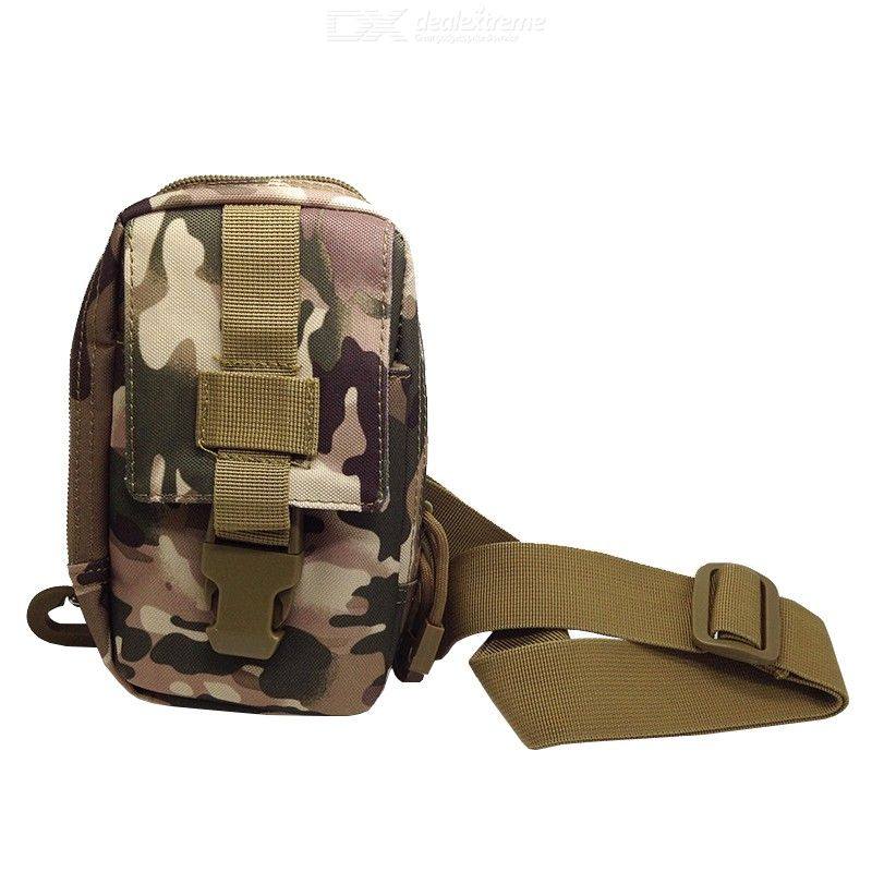 Multifunctional Nylon Tactical Sports Bag Mini Slim Messenger Bag for Outdoor Activities
