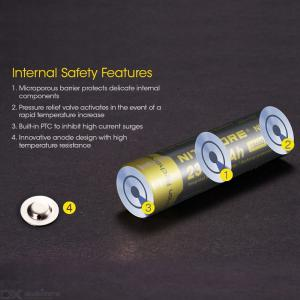 Nitecore NL1823 18650 2300mAh 3.7V 8.5Wh Rechargeable Li-on Battery High Quality with Protection