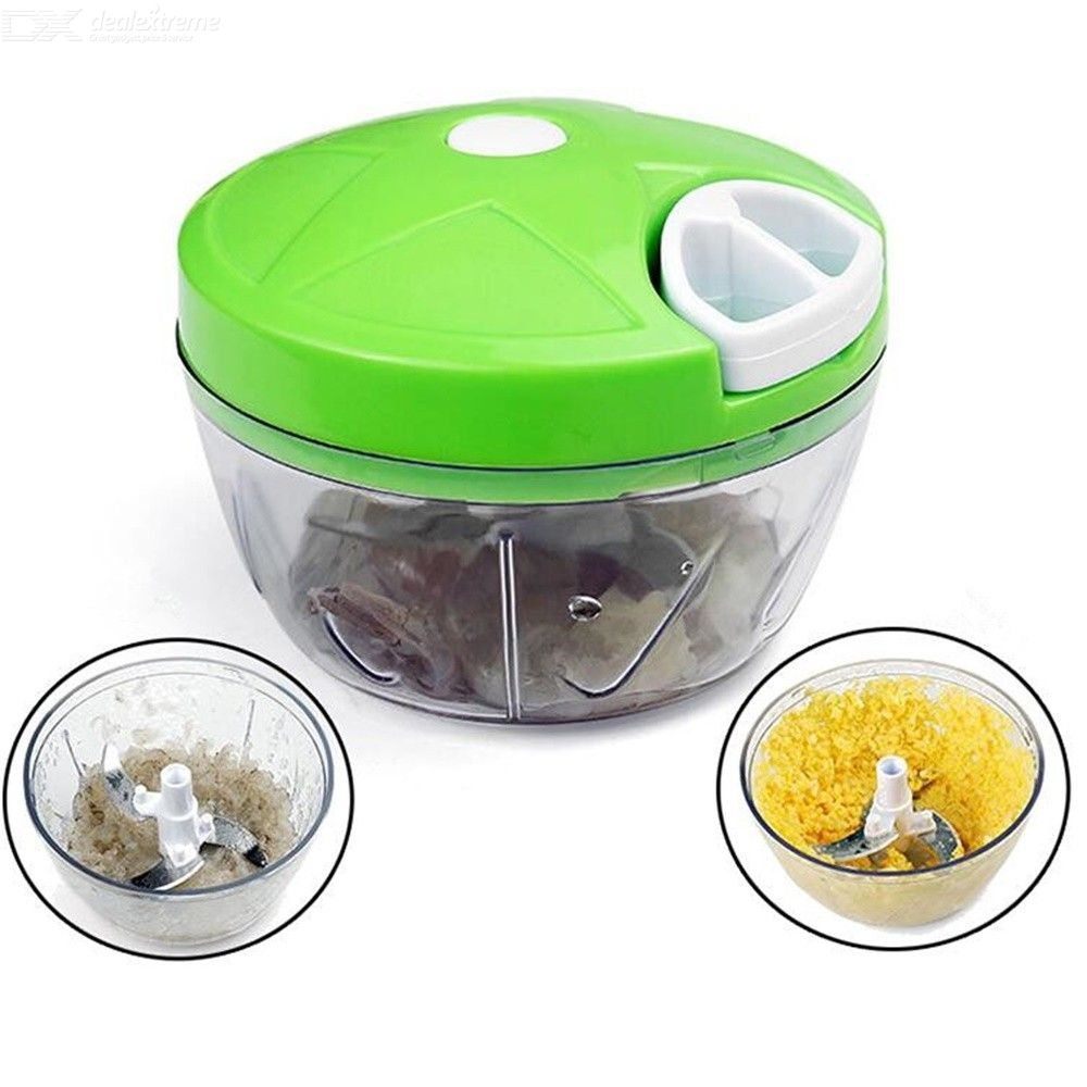 Manual Food Chopper, Easy Powerful Hand Held Vegetable Chopper/Blender To Chop Fruits/Nuts/Herbs/Onions More