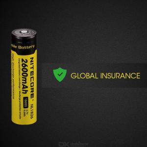 Nitecore NL1826 18650 2600mAh 3.7V 9.6Wh Rechargeable Li-on Battery High Quality with Protection