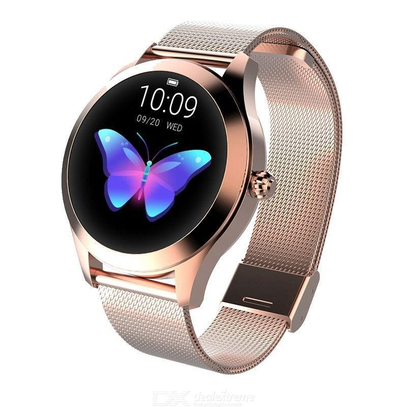 KW10 Fashion Women Smart Watch Multi-sports Modes Smartwatch IP68 Waterproof Heart Rate Monitor for iOS Android