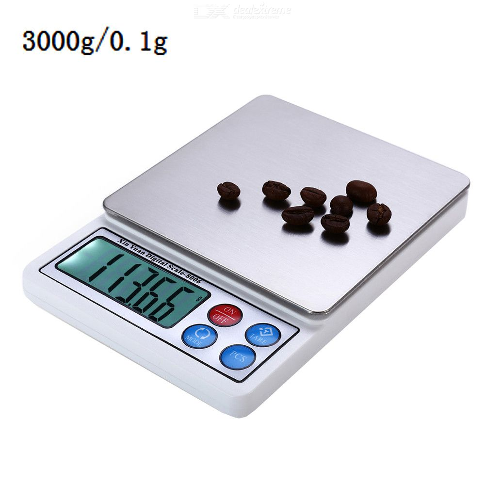 3kg / 0.1g Precision Electronic Scale with Tray Weighing Tools
