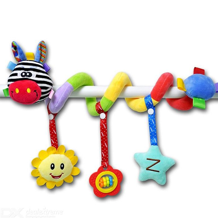 Baby Toys Plush Rattle Newborn Stroller Crib Hanging Bed Bell For 0-12 Months Infant