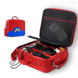 Portable Carrying Bag For Nintendo Switch, NS Accessories Storage Case Water-resisitant Box With Strap