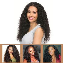 Curly Brazilian Hair Wig Brazilian Kinky Wavy Lace Closure Wig Pre Plucked With Baby Hair Remy Natural Color Beauty Lumina