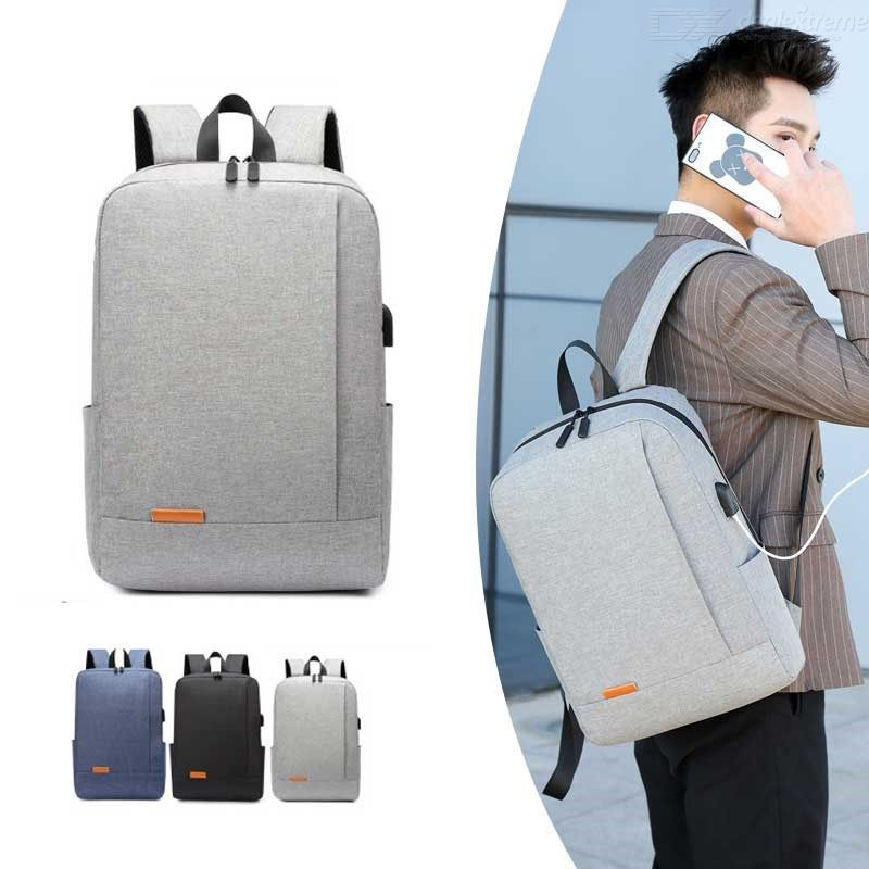 Mens Travel Laptop Backpack Large Capacity Water Resistant School College Bag With USB Charging Port