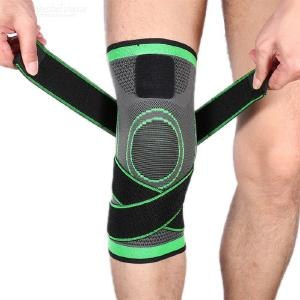 Three-dimensional Weaving Breathable Pressurization Knee Pad Elastic Sports Safety For Outdoor