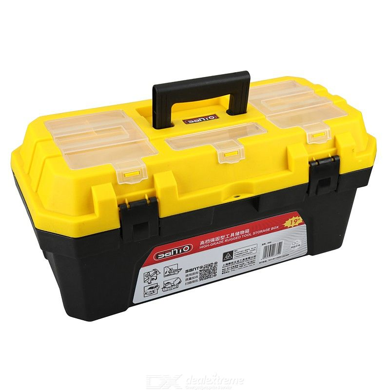 SANTO Portable Waterproof Hard Carry Case Bag Tool Kits Storage Box Safety Protector Organizer Hardware toolbox Impact Resistant