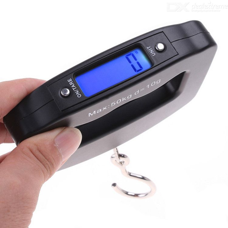 Portable 50kg/10g LCD Digital Luggage Scales Hanging Hook Scale