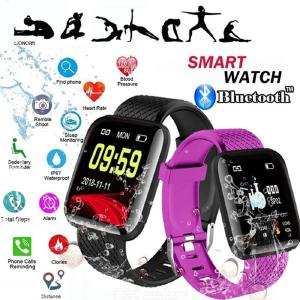 116 Plus Pantalla A Color De Pulsera Inteligente Aptitud Pulsómetro Sports Tracker Inteligentes Pulsera