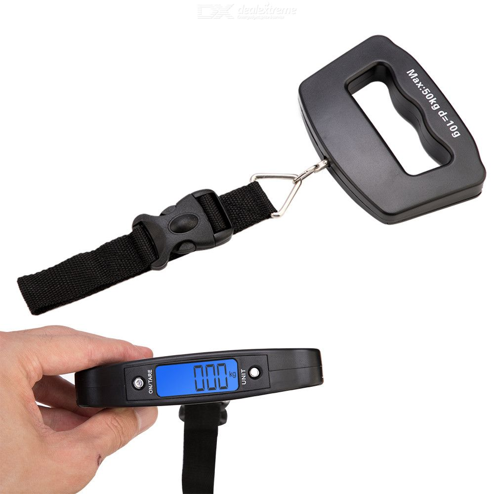 T16  50kg / 10g Portable Electronic Luggage Scale Weighing Tools