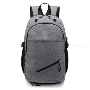 Casual Laptop Backpack With External USB Charging Interface Adjustable Schoolbag For Outdoor Travel