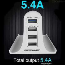 C52Q 4-Port USB Wall Charger 5V/5.4A Multi-Port Fast Charging Block With Cord– US Plug